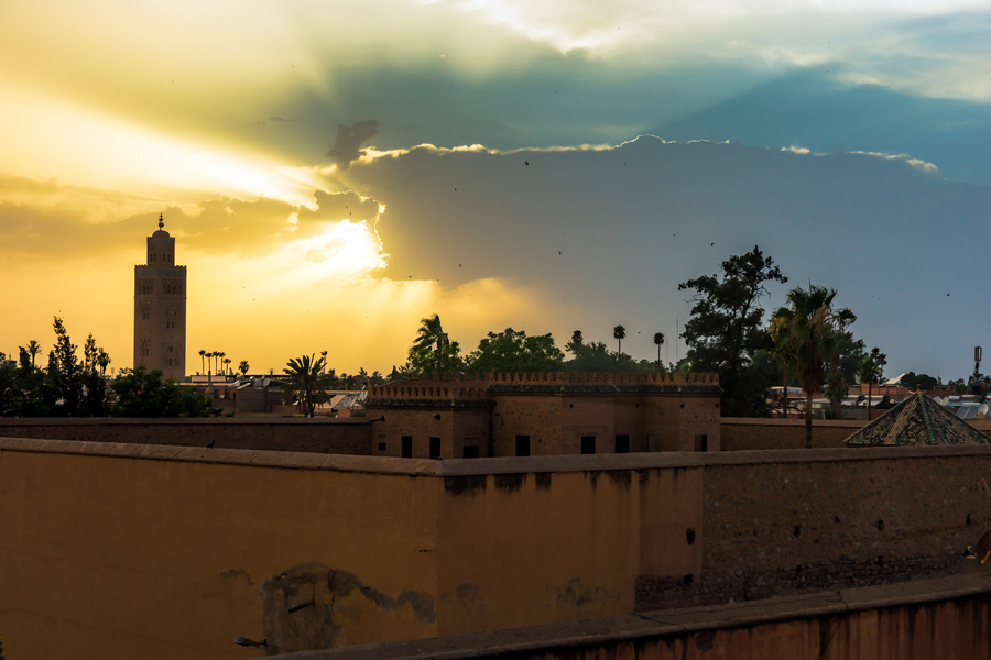 THE SUNSET IN MARRAKESH